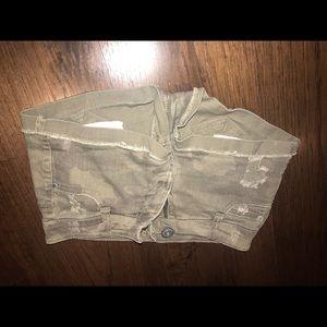 Vanilla star denim shorts army green XS -S
